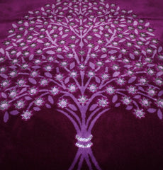 Plush Velour Tree Prayer Rug Purple