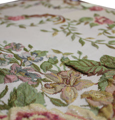 Turkish Luxury Thin Embroidered Floral Payer Mat