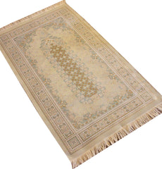 Embroidered Prayer Mat Thin Turkish Carpet