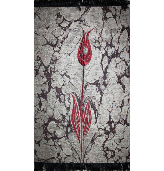 Islamic Prayer Mat Ebru Tulip