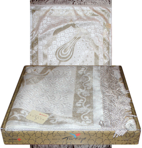 Luxury Gift Box Genova Thin Woven Chenille Prayer Mat Ottoman Tulip