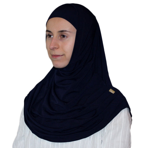 Firdevs Practical Scarf & Bonnet 020 Navy Blue