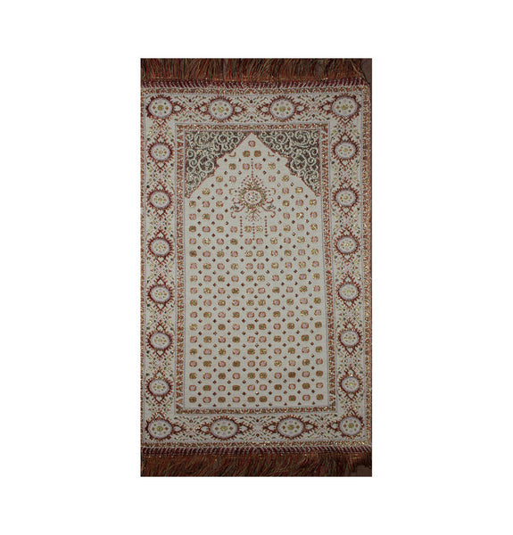 Small Child's Thin Woven Prayer Mat Shimmery Orange