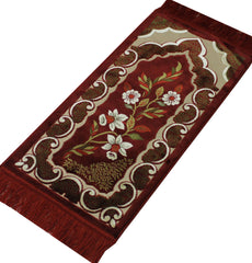Turkish Muslim prayer rug child velvet red