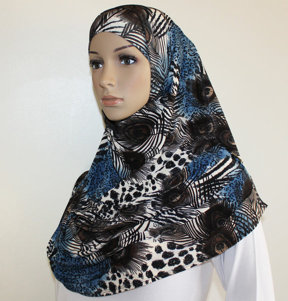 Firdevs Turkish Practical Hijab Scarf Amirah Hijab peacock animal