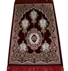 Muslim prayer carpet red crystal