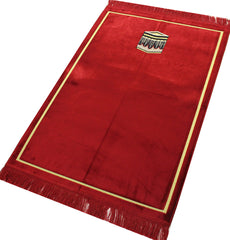 Turkish Islamic Double Prayer Carpet Wide Red Kaba