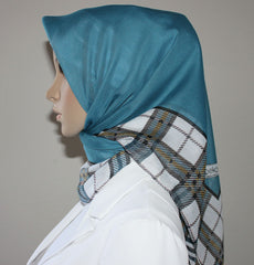 Turkish Yazma Hijab Blue