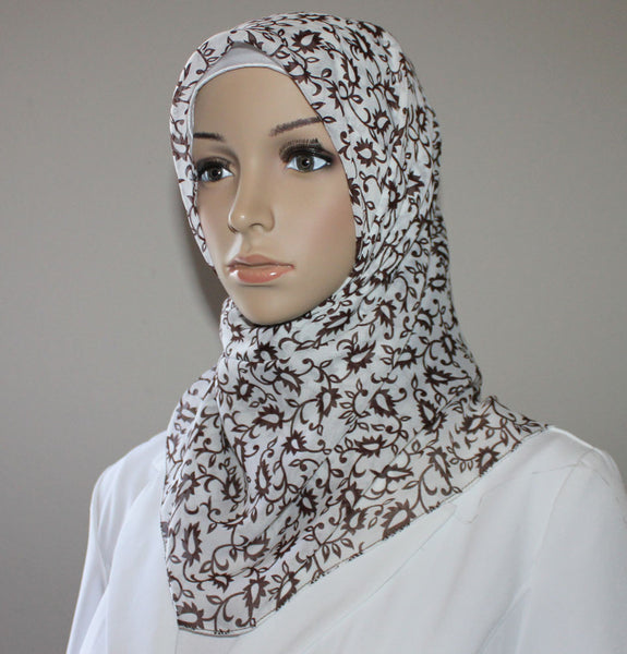 Turkish Yazma Hijab Brown