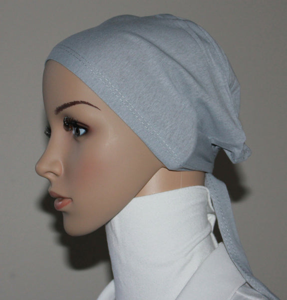 Cotton Hijab Underscarf Light Grey