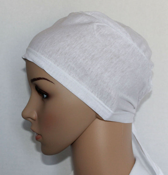 Cotton Hijab Underscarf white