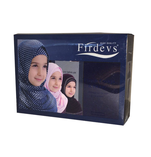 Firdevs Girl's Practical Hijab Scarf & Bonnet Navy Blue