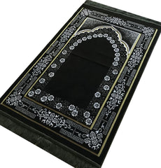 Plush Ipek Prayer Rug Green Floral