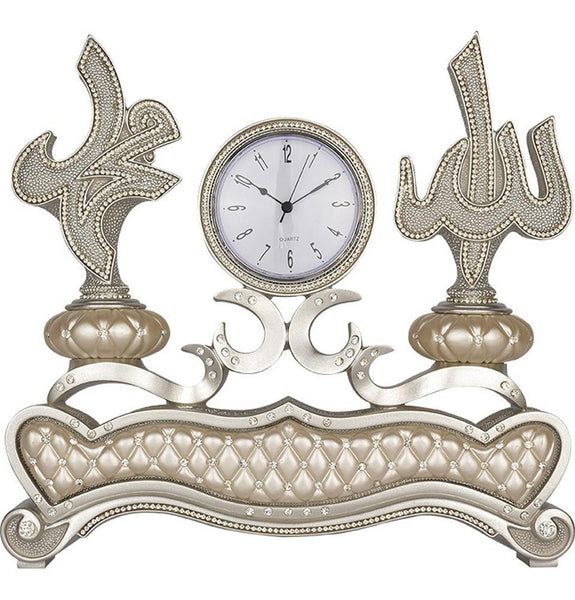 Islamic Table Decor Clock with Allah Muhammad 2303