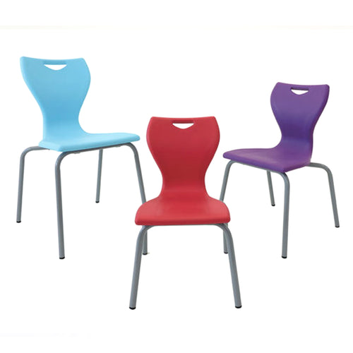 Mbob classic chair for use in education settings, classroom chair, K12 chair, learning spaces chair. stackable chair. Various seat heights.