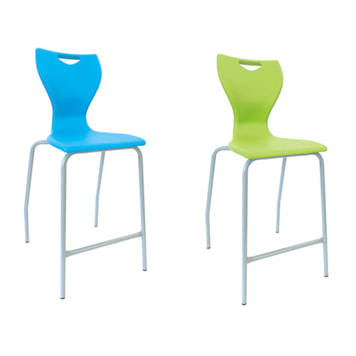 Mbob stool for use in education settings, classroom stool, K12 stool, learning spaces stool. stackable stool. Various seat heights.