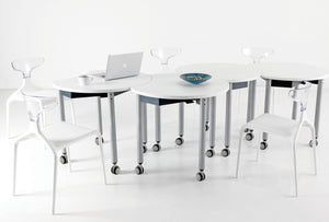 Mini Mobile folding table for homeschooling, home office, collaborative tables, home tables, home office, tables on wheels.