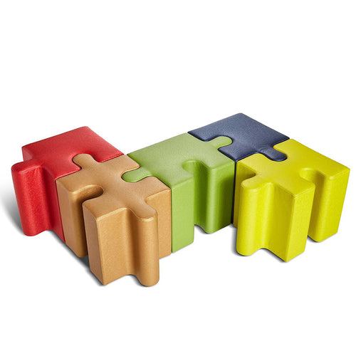 Puzzle soft seating for home learning, fun seating, classrooms, home school soft seating, puzzle seating