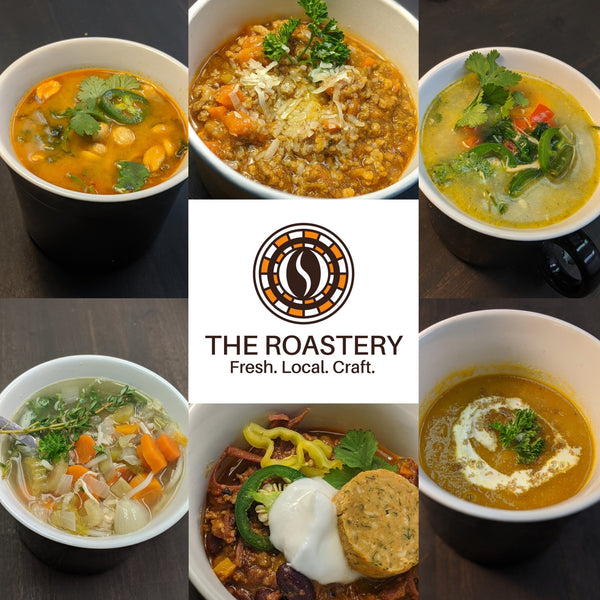 "3 Soups Special - Our ""Hug in a Mug"""