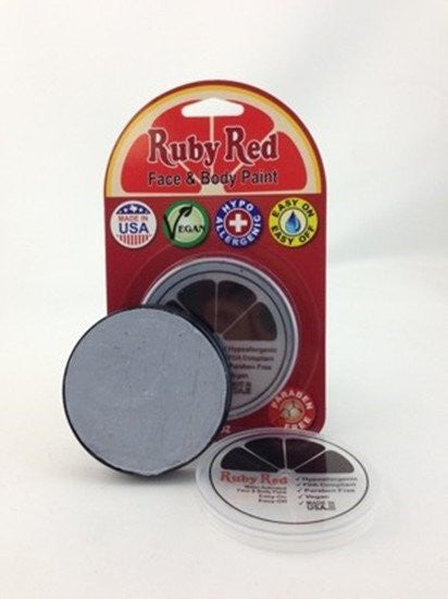 Professional Vegan Ruby Red Face Paint- Light Grey