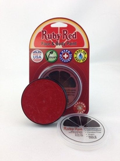 Professional Vegan Ruby Red Face Paint - Red