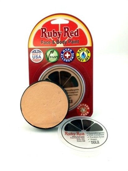 Professional Vegan Ruby Red Face Paint - Peach