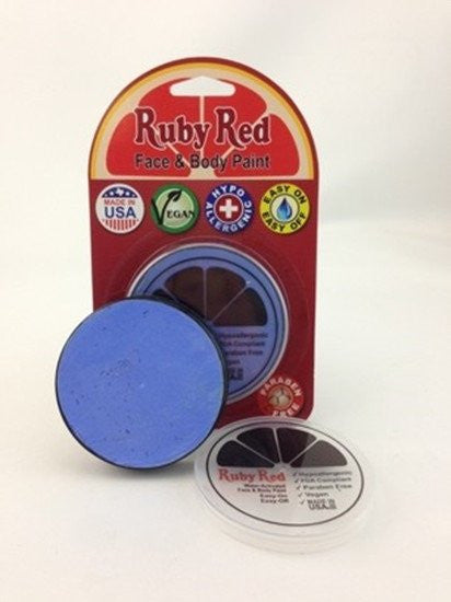 Ruby Red Face Paint - Pastel Blue