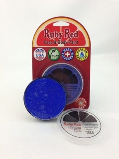Professional Vegan Ruby Red Face Paint - Blue