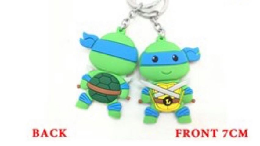 TMNT Teenage Mutant Ninja Turtle Leonardo PVC Keyring
