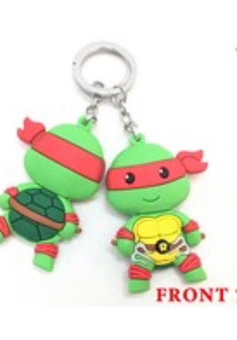 TMNT Teenage Mutant Ninja Turtle Raphael PVC Keyring