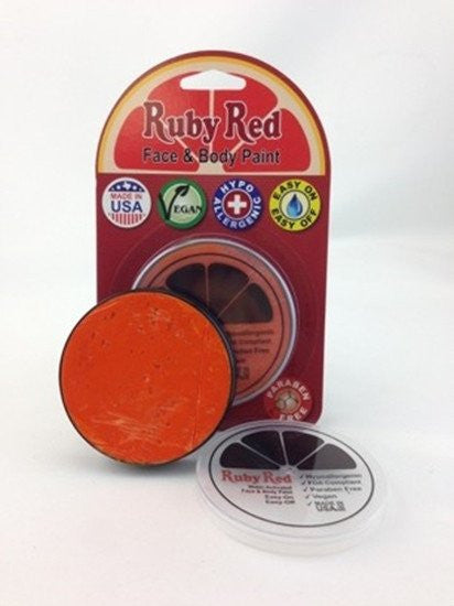 Professional Vegan Ruby Red Face Paint - Habanero