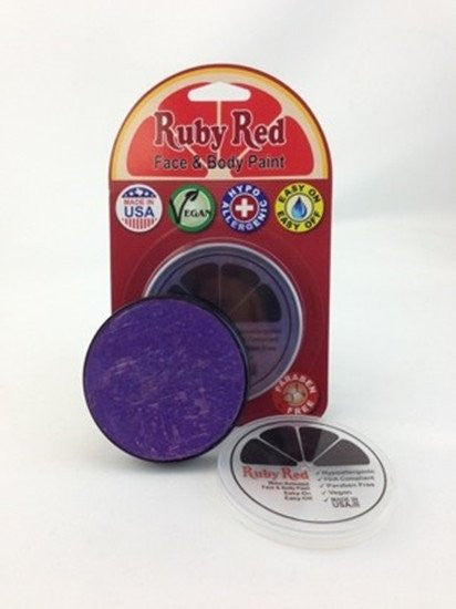 Professional Vegan Ruby Red Face Paint - Purple