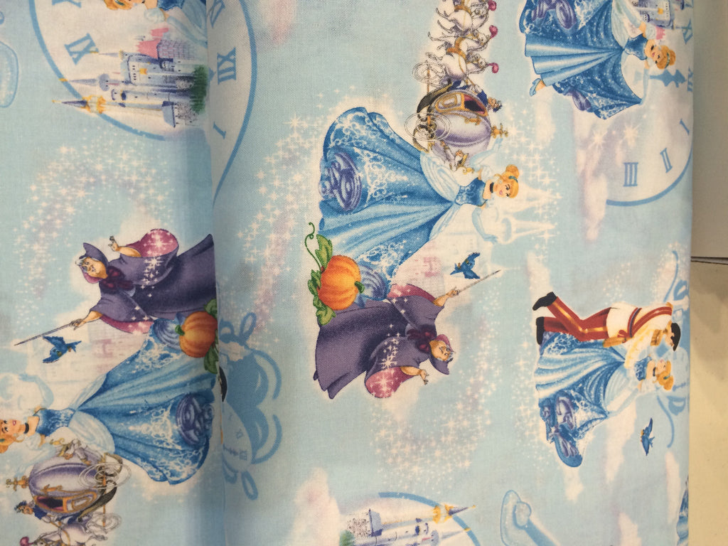 Disney Cinderella Scatter Cotton Fabric