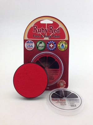 UV Ruby Red Professional Face paint - Red