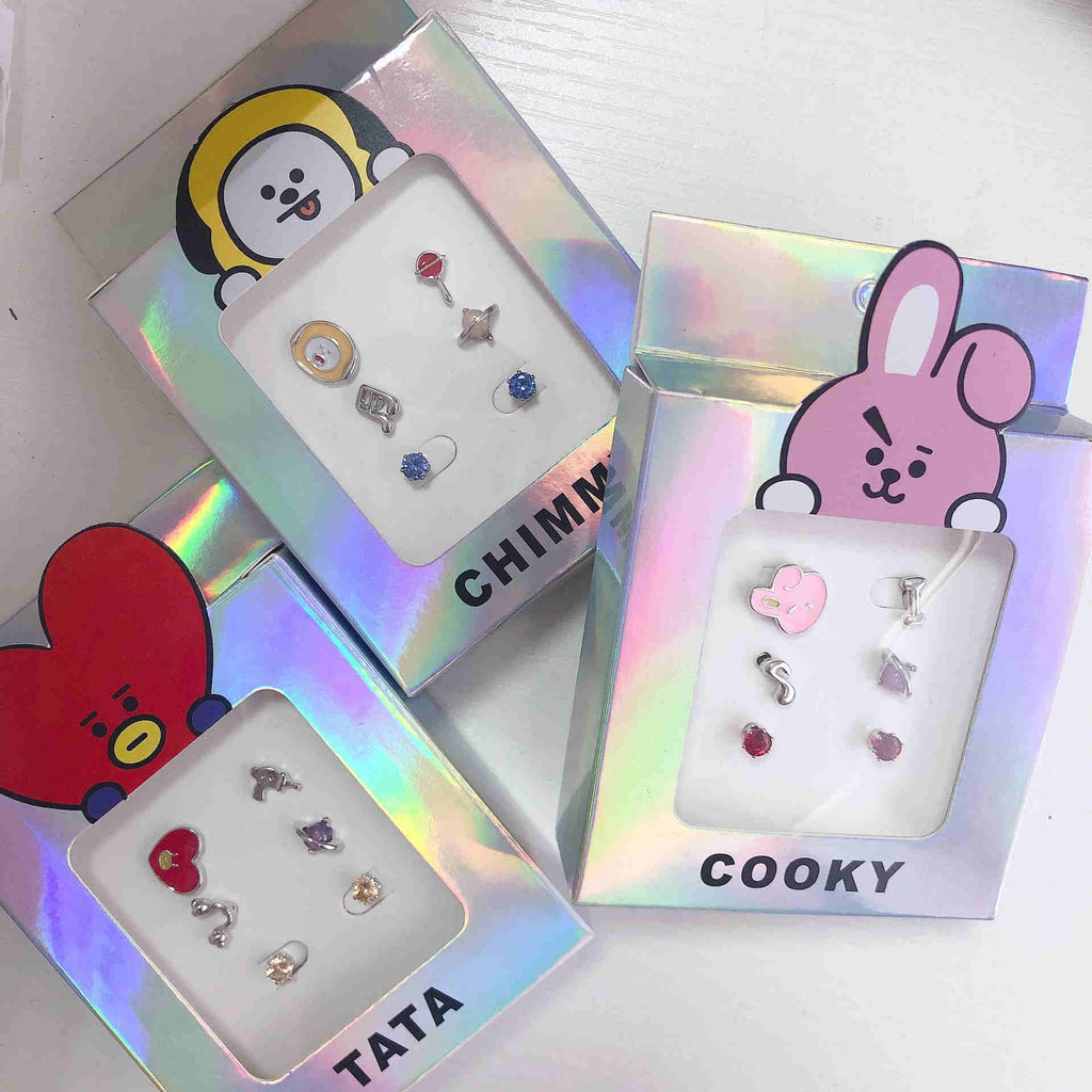 Kpop BT21  Earring Set Tata