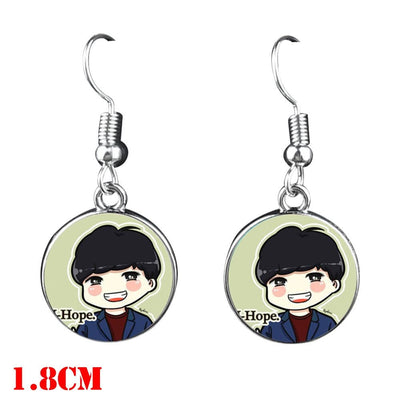 BTS  Dangle Earrings - J Hope