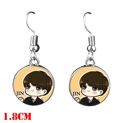 BTS  Dangle Earrings - Jin