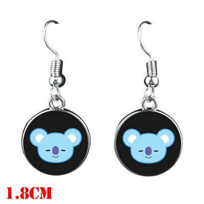 BTS Mascot Dangle Earrings - Koya