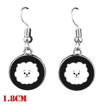 BTS Mascot Dangle Earrings - RJ