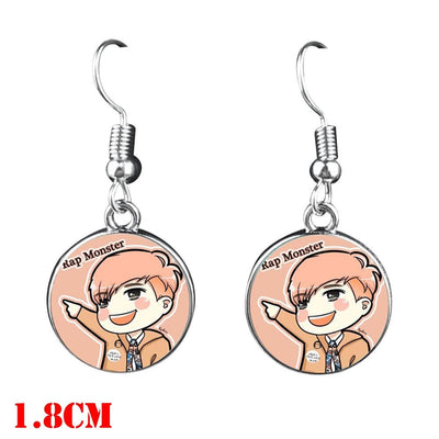 BTS  Dangle Earrings - Rap Monster