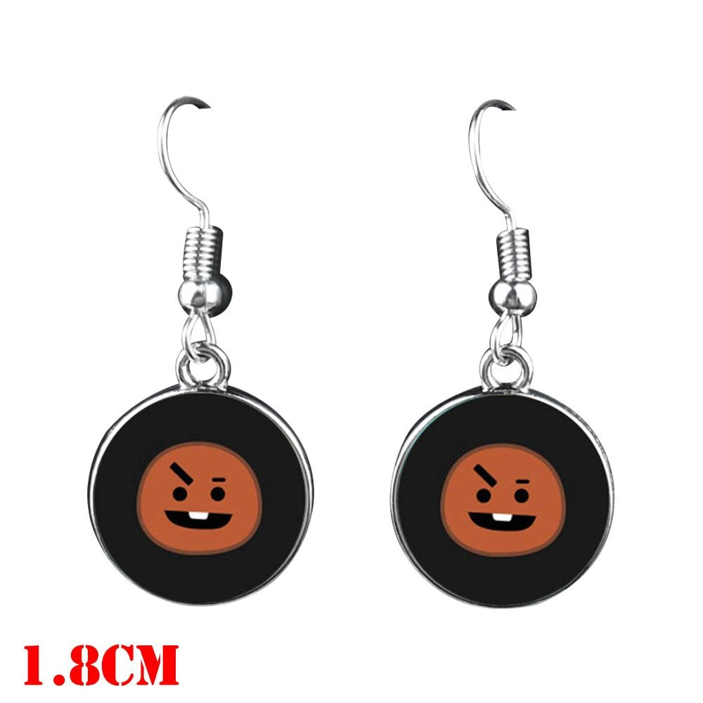 BTS Mascot Dangle Earrings - Shooky