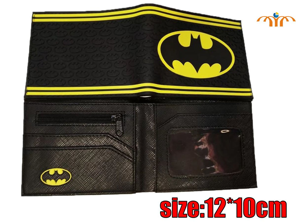 Character Wallet - Batman Stripped Rubber Logo