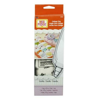 Mod Podge Collage Clay Vanilla White