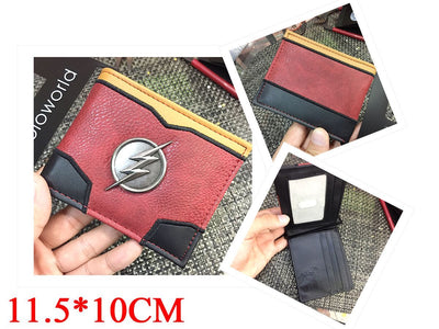 Character Wallet - Flash Metal Badge