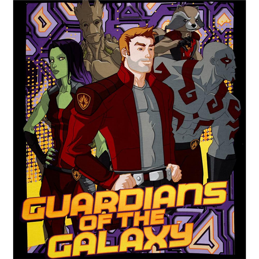 Marvel Comic Guardians of the Galaxy Panel Cotton Fabric