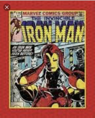 Marvel Comic - Iron Man Panel Cotton Fabric
