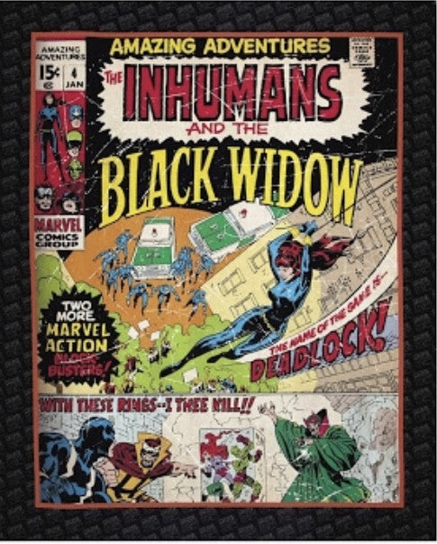 Marvel Comic - Black Widow Panel Cotton Fabric