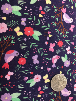 Birds and Flowers Quilting Cotton Fabric