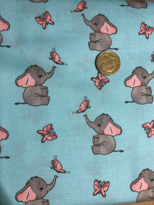 Baby Elephants Quilting Cotton Fabric