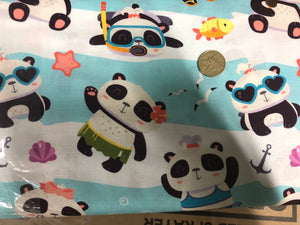 Panda & Rainbows Series Summer Fun Quilting Cotton Fabric